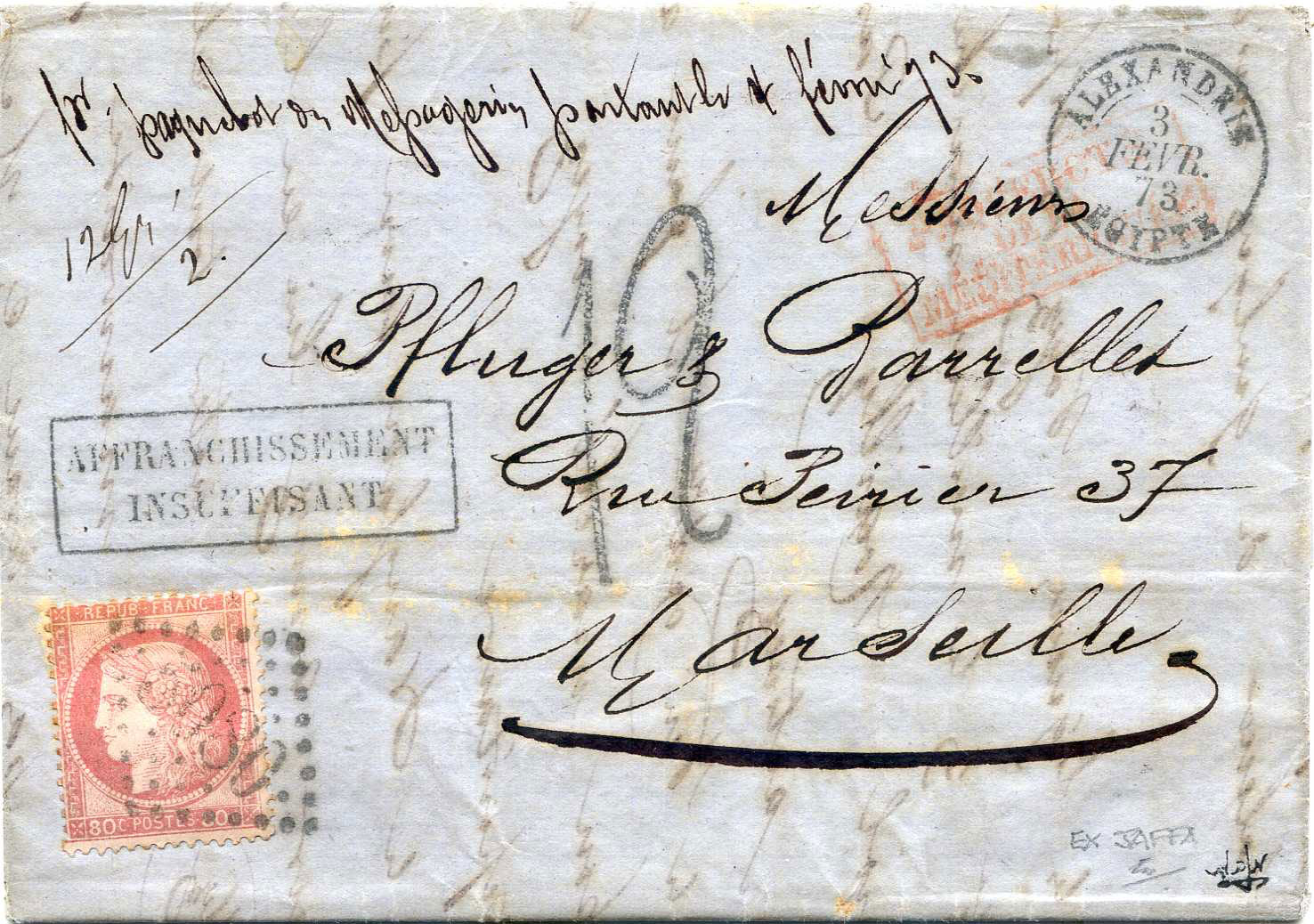 Lot 10 - Holyland - Forerunners  -  JF-B Philatelie Specialized sale of stamps and letters from Israel