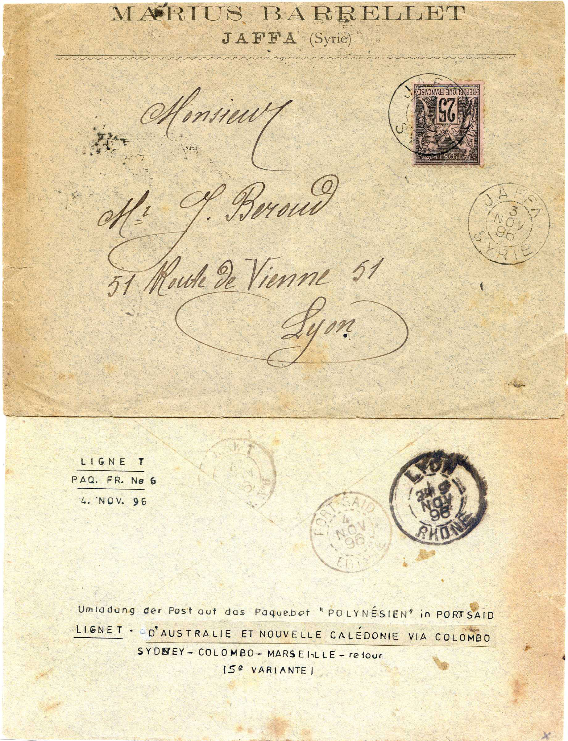 Lot 18 - Holyland - Forerunners  -  JF-B Philatelie Specialized sale of stamps and letters from Israel