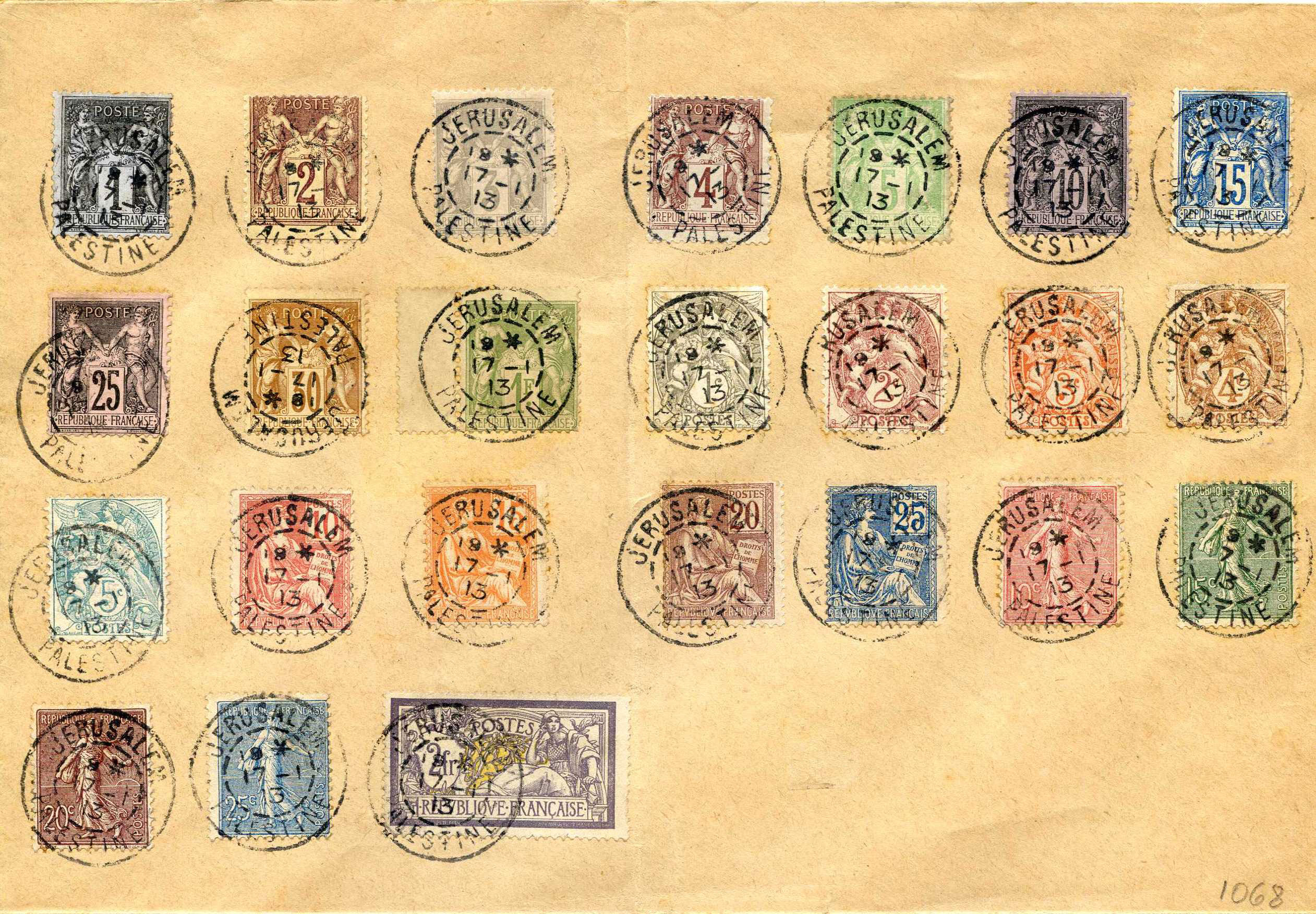 Lot 20 - Holyland - Forerunners  -  JF-B Philatelie Specialized sale of stamps and letters from Israel