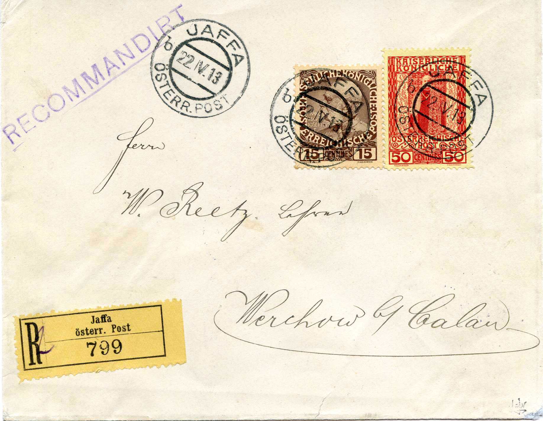 Lot 22 - Holyland - Forerunners  -  JF-B Philatelie Specialized sale of stamps and letters from Israel