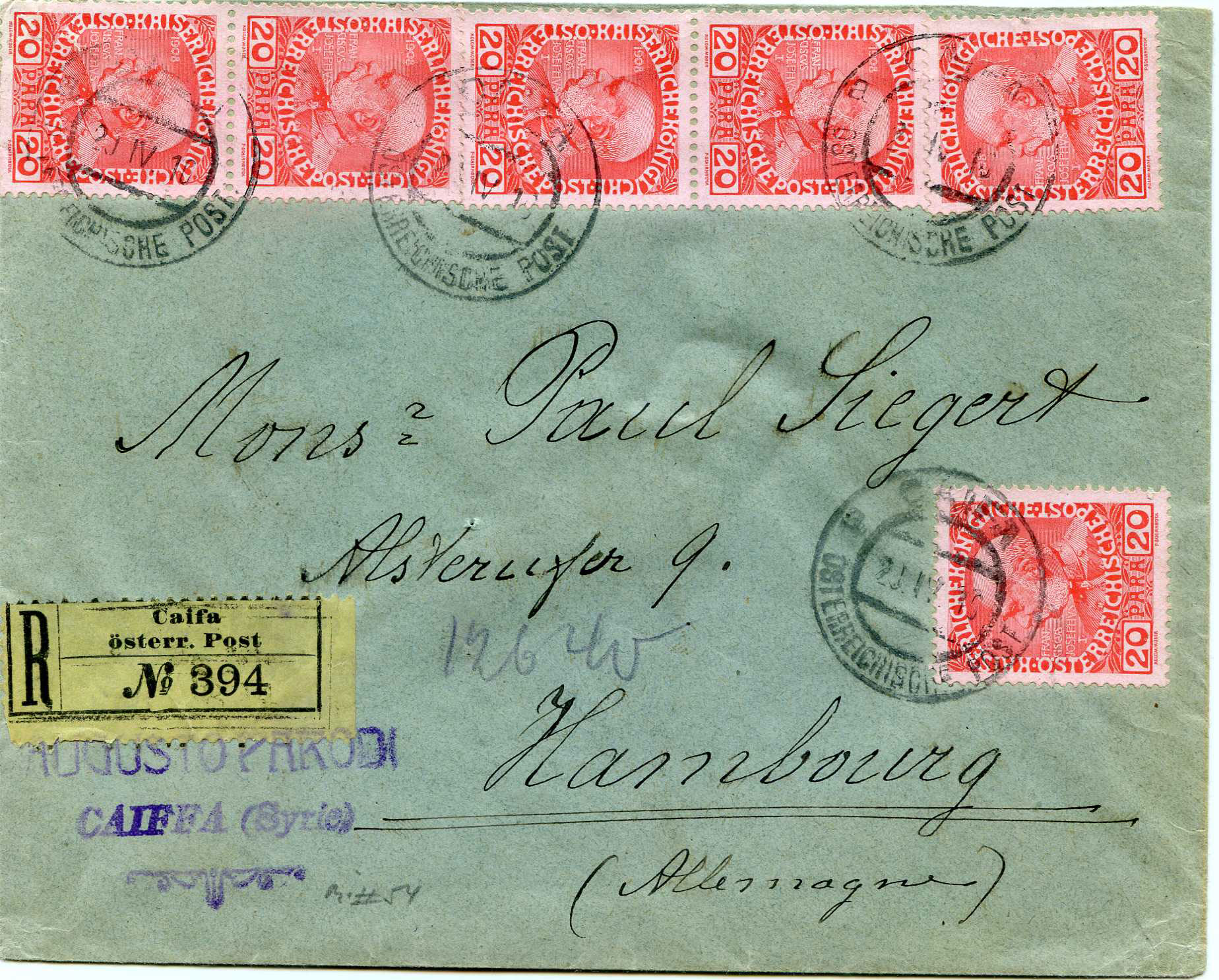 Lot 23 - Holyland - Forerunners  -  JF-B Philatelie Specialized sale of stamps and letters from Israel