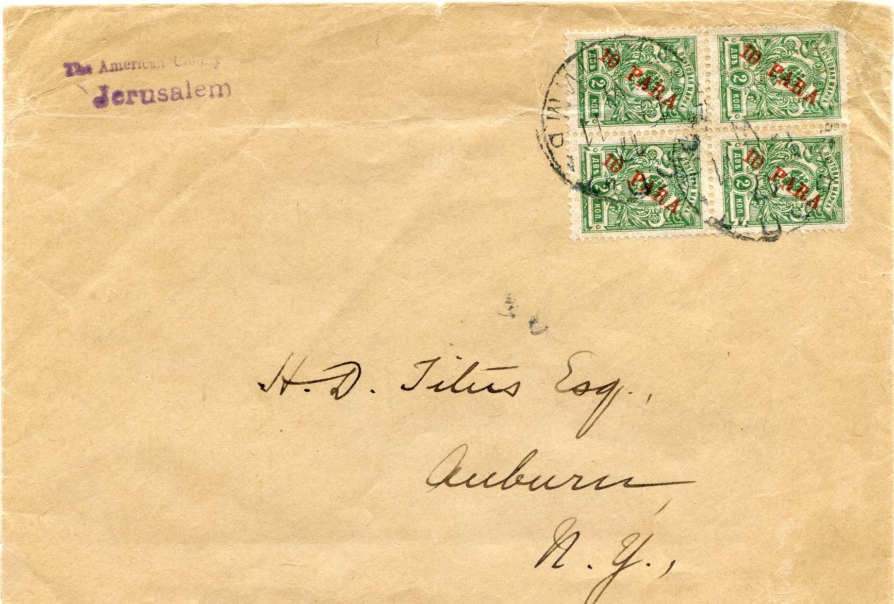 Lot 29 - Holyland - Forerunners  -  JF-B Philatelie Specialized sale of stamps and letters from Israel