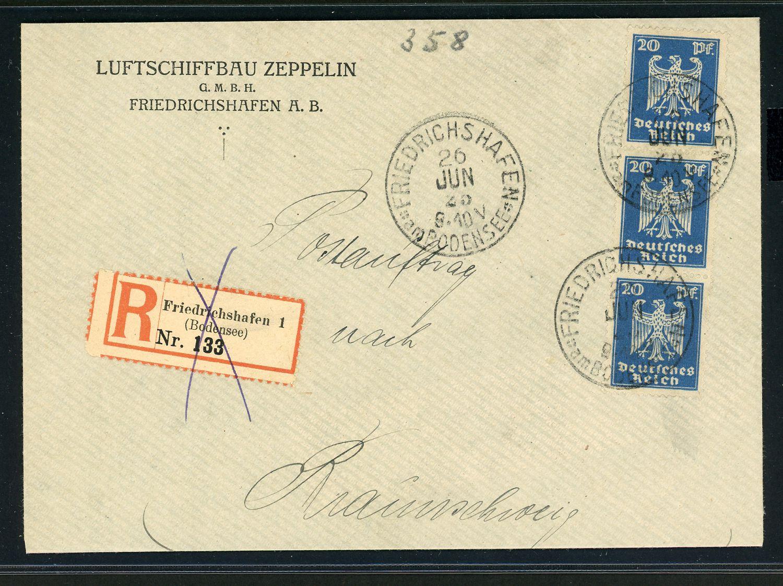 Lot 11200 - zeppelinpost deutschland  -  Auktionshaus Klüttermann GmbH Auction number 1