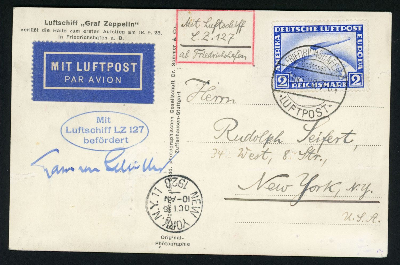 Lot 11209 - zeppelinpost deutschland  -  Auktionshaus Klüttermann GmbH Auction number 1
