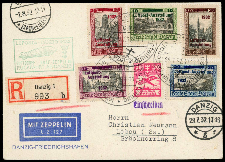 Lot 11284 - zeppelinpost deutschland  -  Auktionshaus Klüttermann GmbH Auction number 1