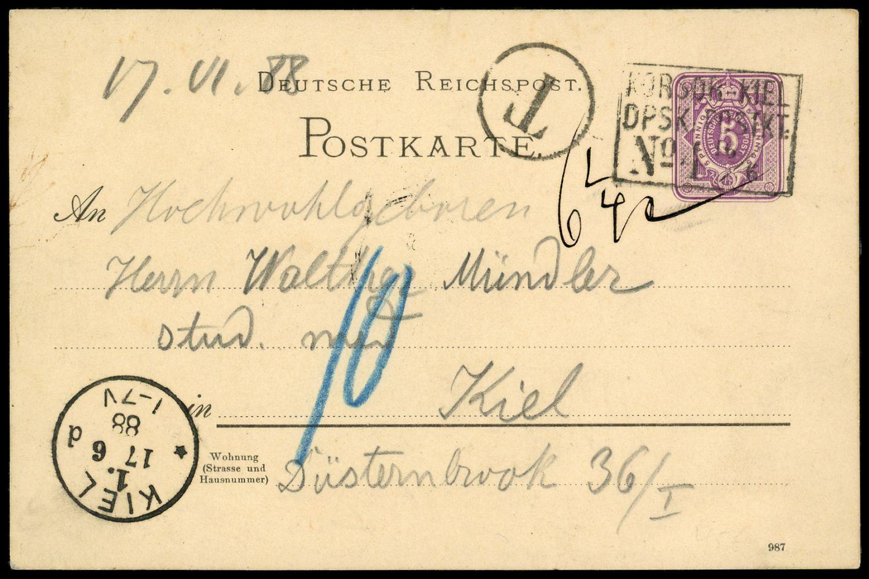 Lot 6080 - schiffspost alle welt  -  Auktionshaus Klüttermann GmbH Auction number 1