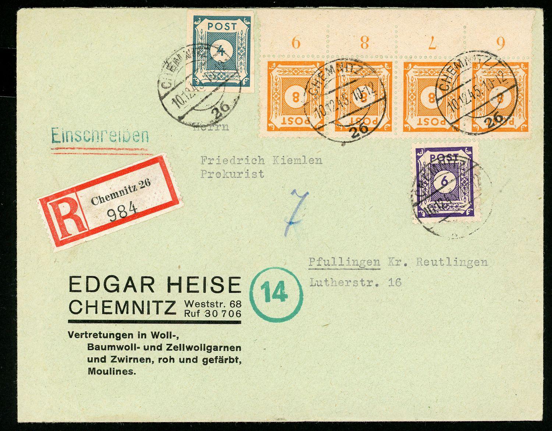Lot 6913 - französische zone besonderheiten  -  Auktionshaus Klüttermann GmbH Auction number 1