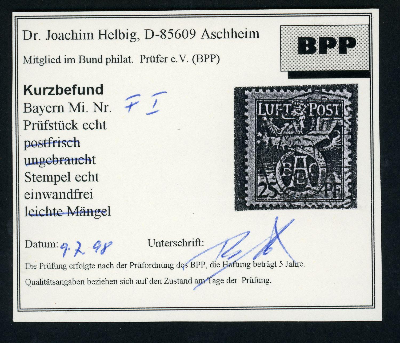 Lot 709 - BAYERN FLUGPOSTMARKEN  -  Auktionshaus Klüttermann GmbH Auction number 1