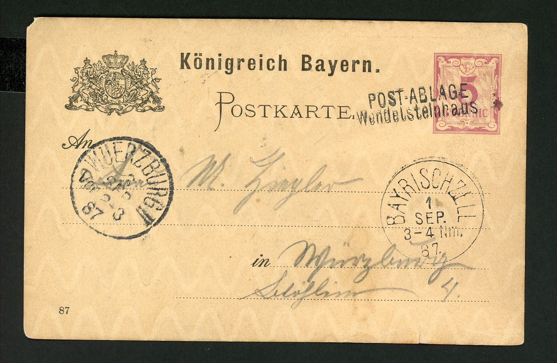Lot 726 - bayern privatganzsachen  (nach frech)  -  Auktionshaus Klüttermann GmbH Auction number 1
