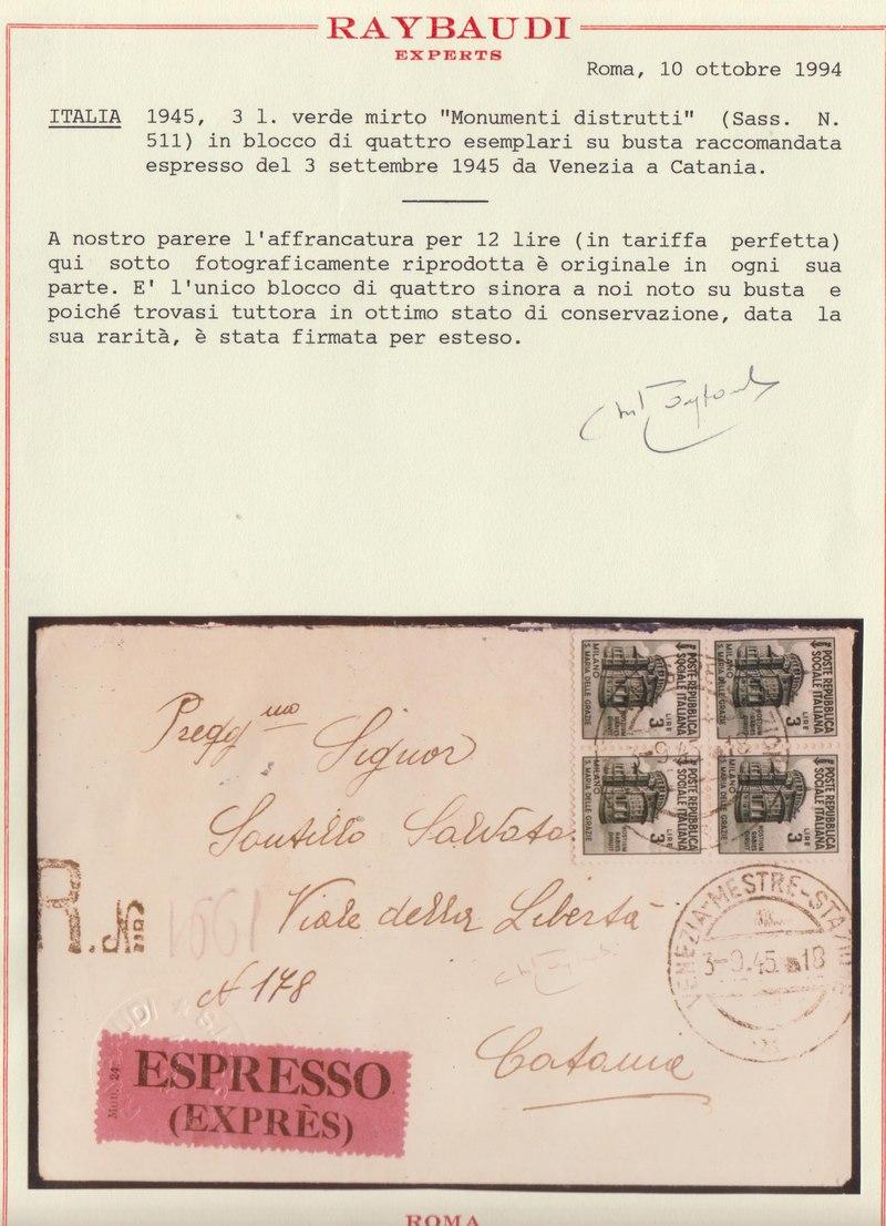 Lot 223 - ITALIA R.S.I., Posta ordinaria  -  Laser Invest S.R.L. LIVE PHILATELIC AUCTION #176