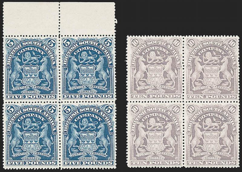 Lot 119 - British Commonwealth british africa -  Robert A. Siegel International Sale 1229 Worldwide Stamps and Postal History