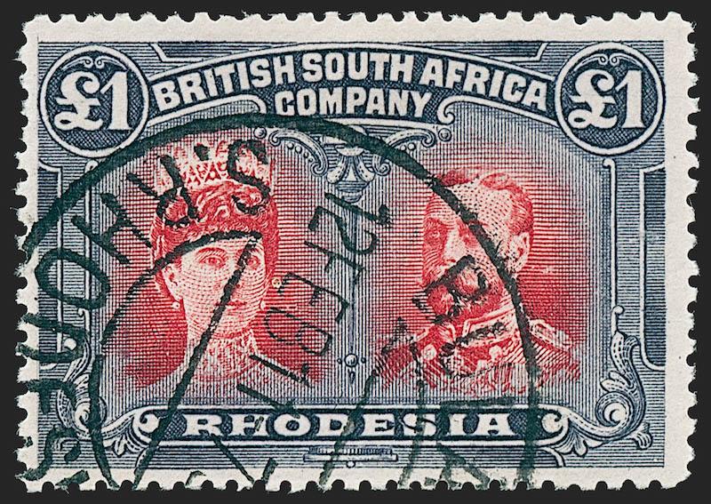 Lot 121 - British Commonwealth british africa -  Robert A. Siegel International Sale 1229 Worldwide Stamps and Postal History