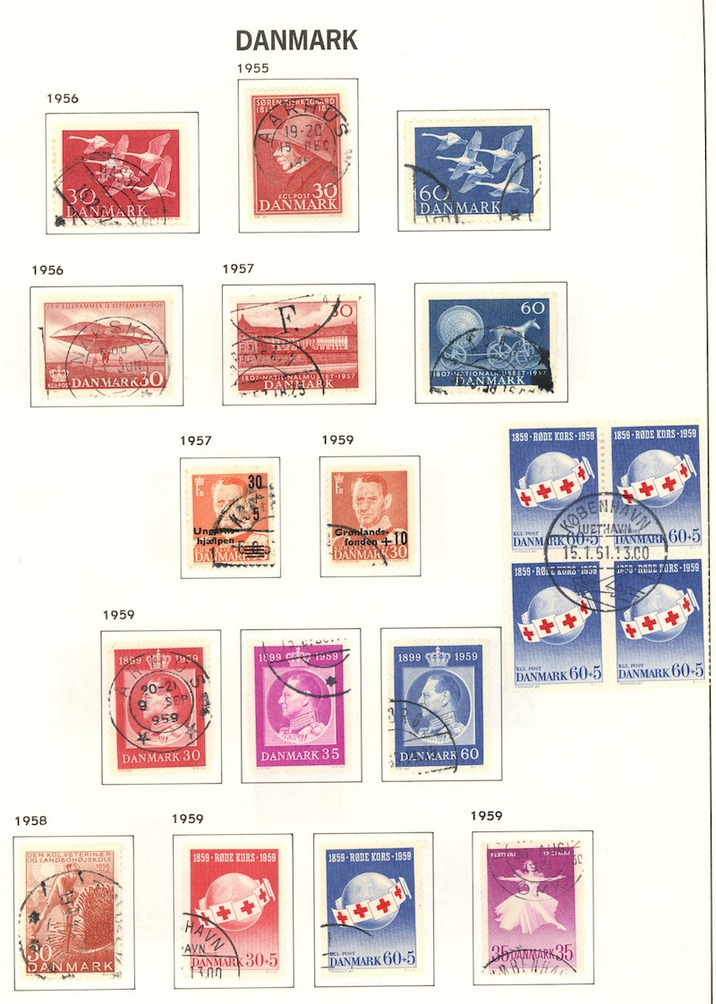 Lot 1955 - Danmark, samlinger og lotter (AFA)  -  Skanfil Auksjoner AS  Public auction 211