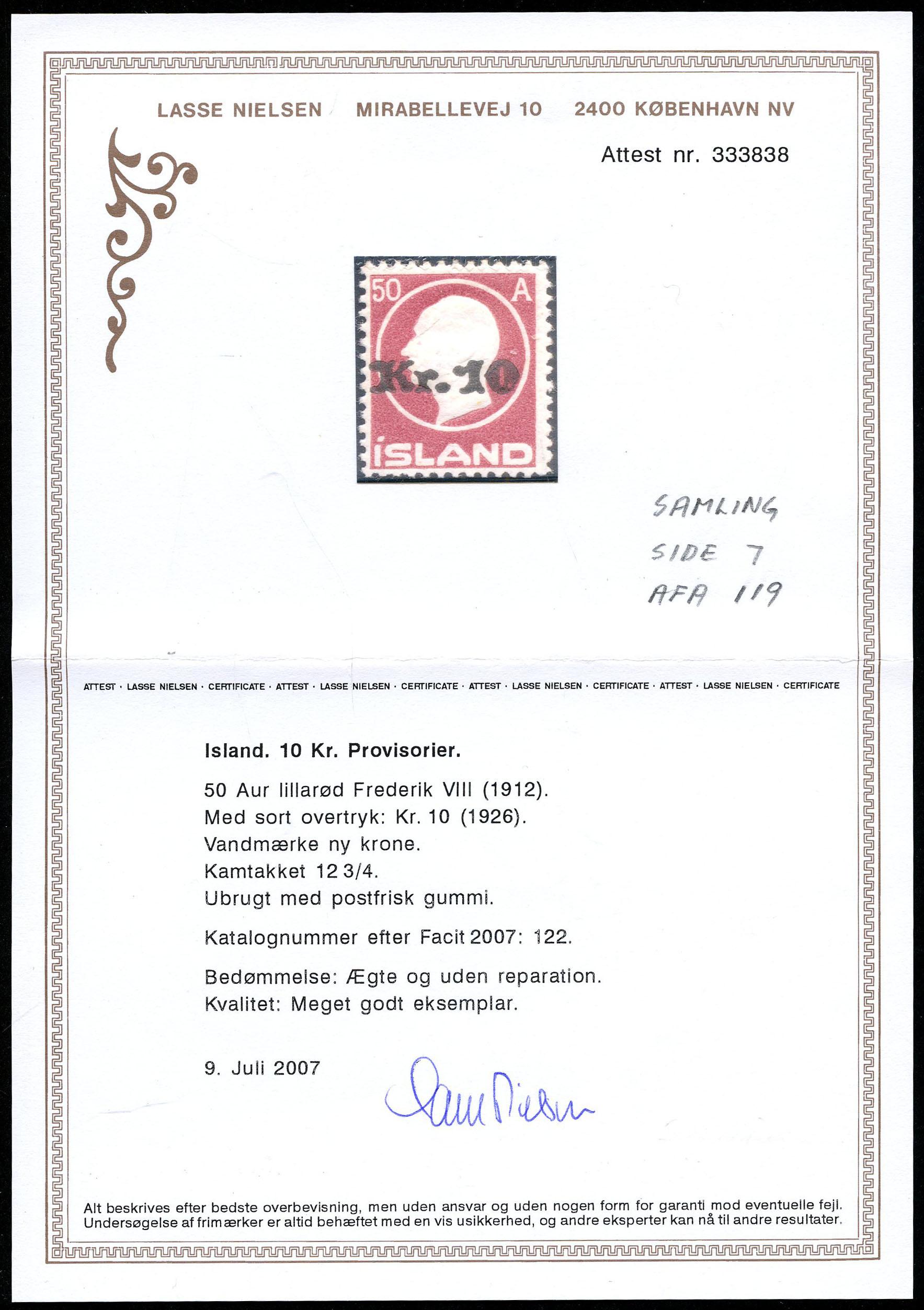 Lot 2096 - Island fra AFA 83 (AFA)  -  Skanfil Auksjoner AS  Public auction 211
