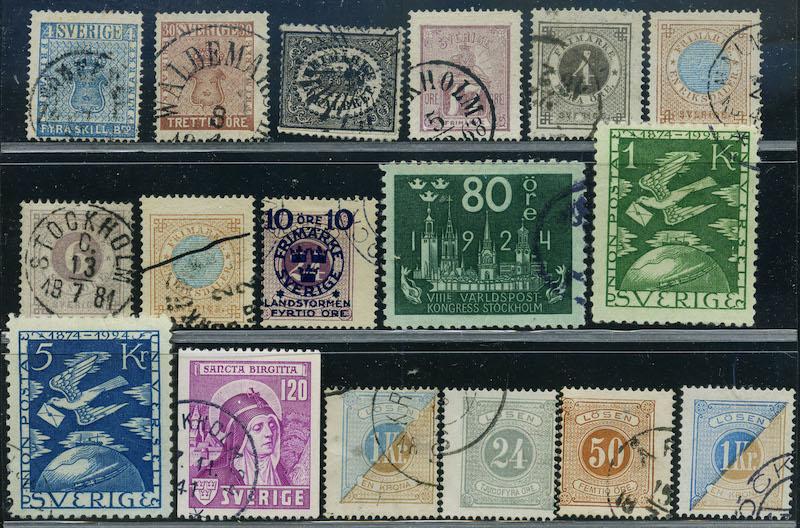 Lot 2182 - Sverige Samlinger og lotter (Facit)  -  Skanfil Auksjoner AS  Public auction 211
