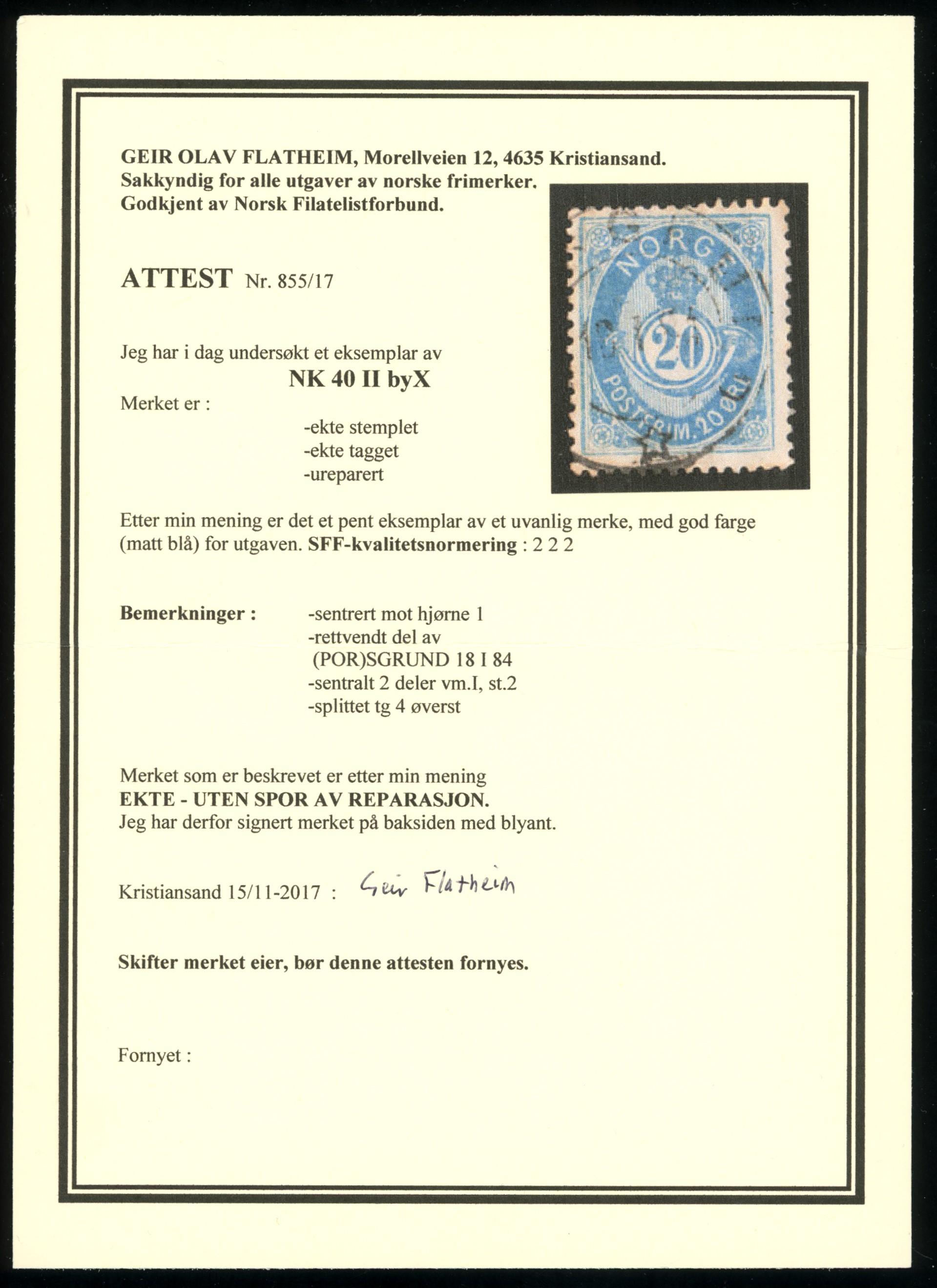Lot 3961 - 21 mm elektrotypi  -  Skanfil Auksjoner AS  Public auction 211