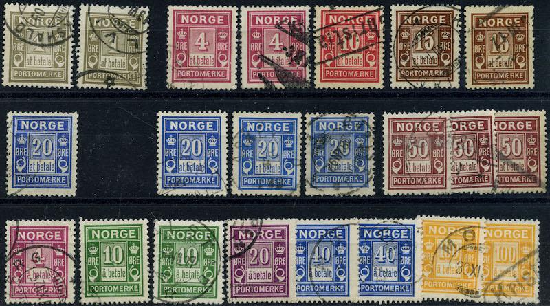 Lot 4238 - Portomerker  -  Skanfil Auksjoner AS  Public auction 211