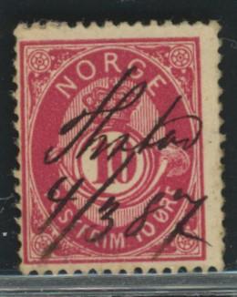 Lot 4626 - Håndskrevne annulleringer  -  Skanfil Auksjoner AS  Public auction 211