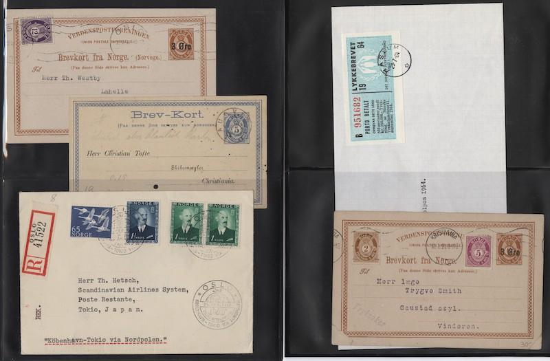Lot 4724 - Brevlotter  -  Skanfil Auksjoner AS  Public auction 211