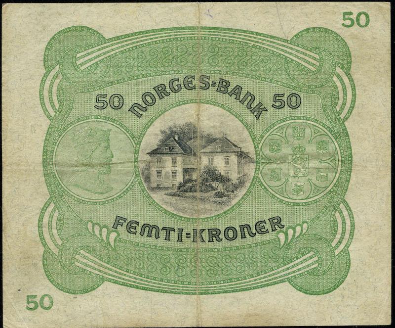 Lot 478 - 50-kr  -  Skanfil Auksjoner AS  Public auction 211