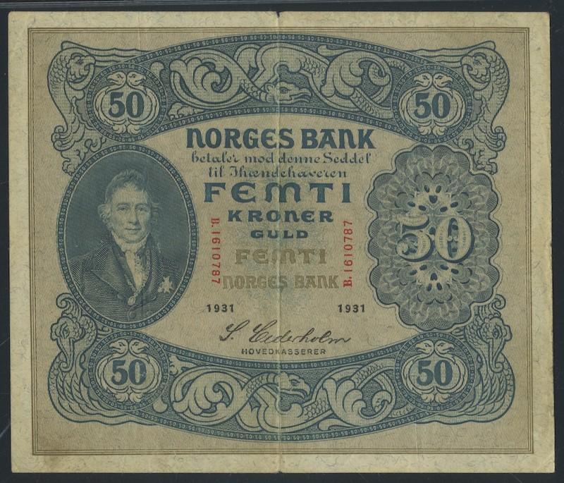 Lot 483 - 50-kr  -  Skanfil Auksjoner AS  Public auction 211