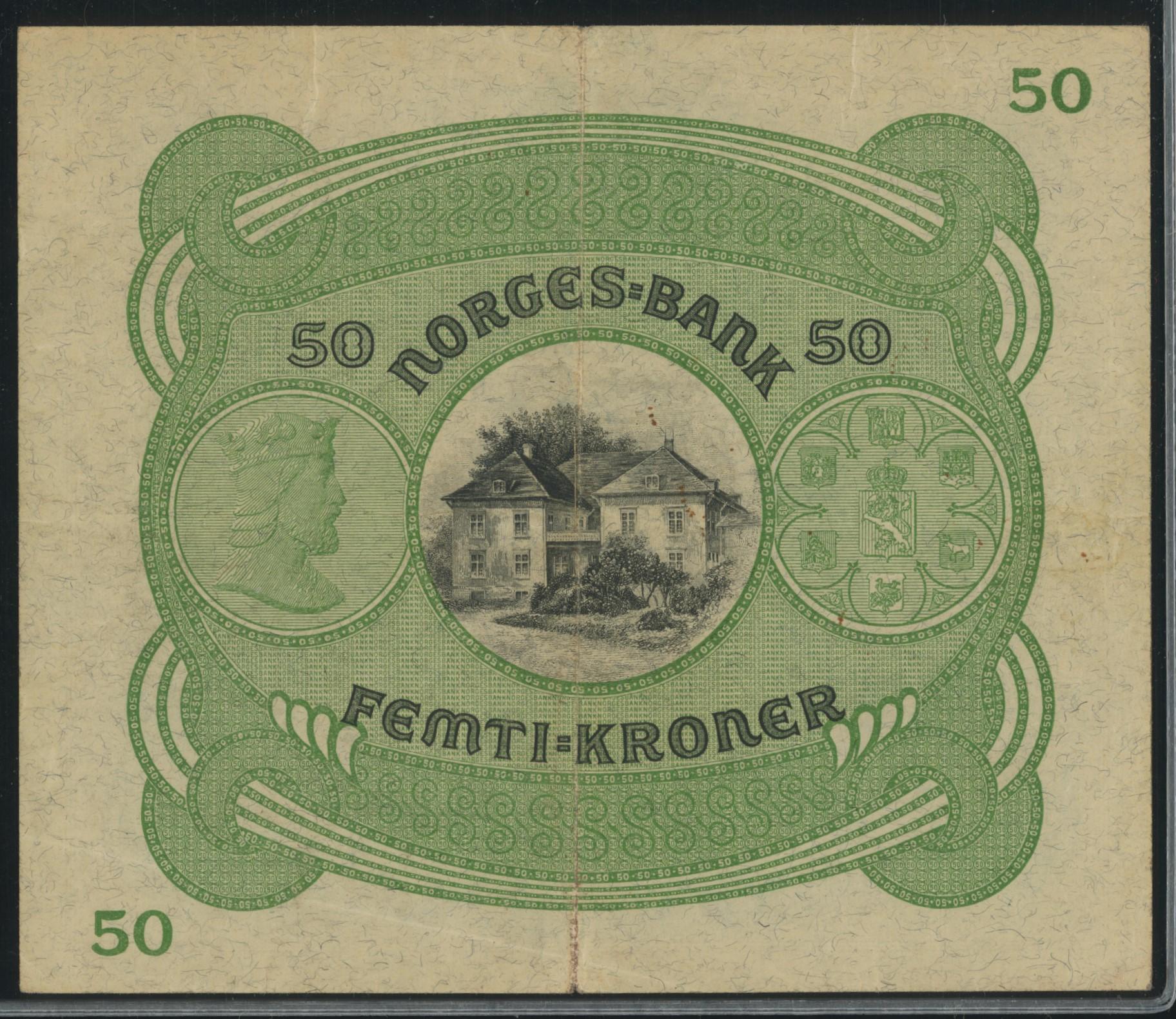 Lot 484 - 50-kr  -  Skanfil Auksjoner AS  Public auction 211