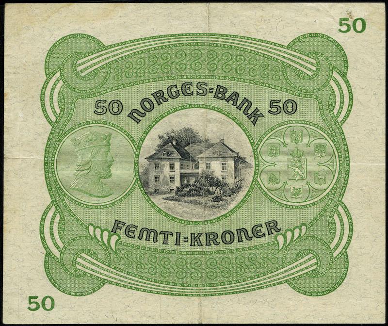 Lot 485 - 50-kr  -  Skanfil Auksjoner AS  Public auction 211