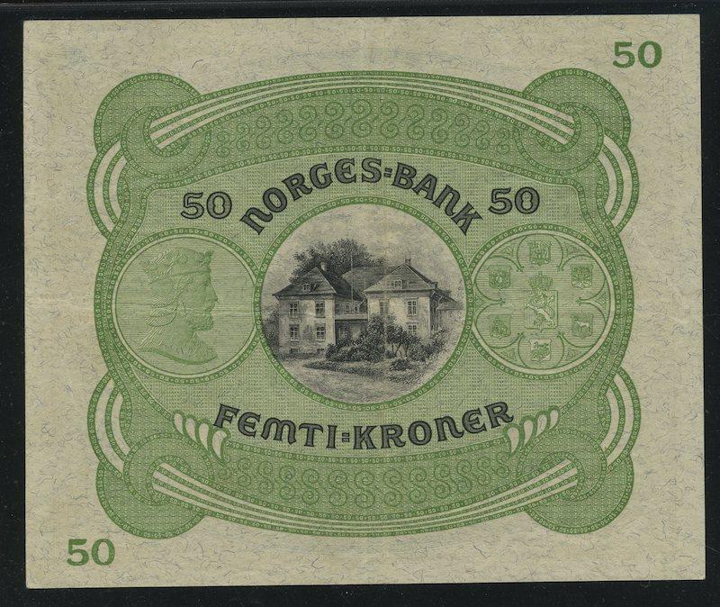 Lot 486 - 50-kr  -  Skanfil Auksjoner AS  Public auction 211