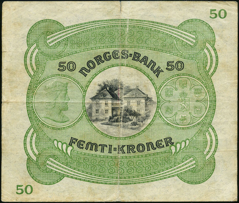Lot 487 - 50-kr  -  Skanfil Auksjoner AS  Public auction 211