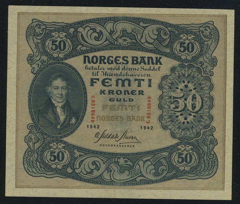 Lot 488 - 50-kr  -  Skanfil Auksjoner AS  Public auction 211