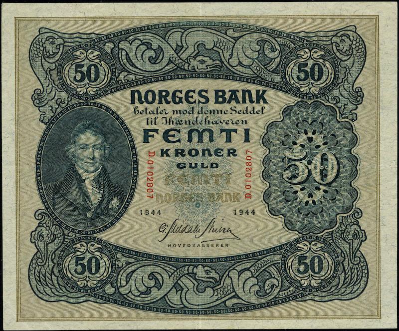 Lot 489 - 50-kr  -  Skanfil Auksjoner AS  Public auction 211