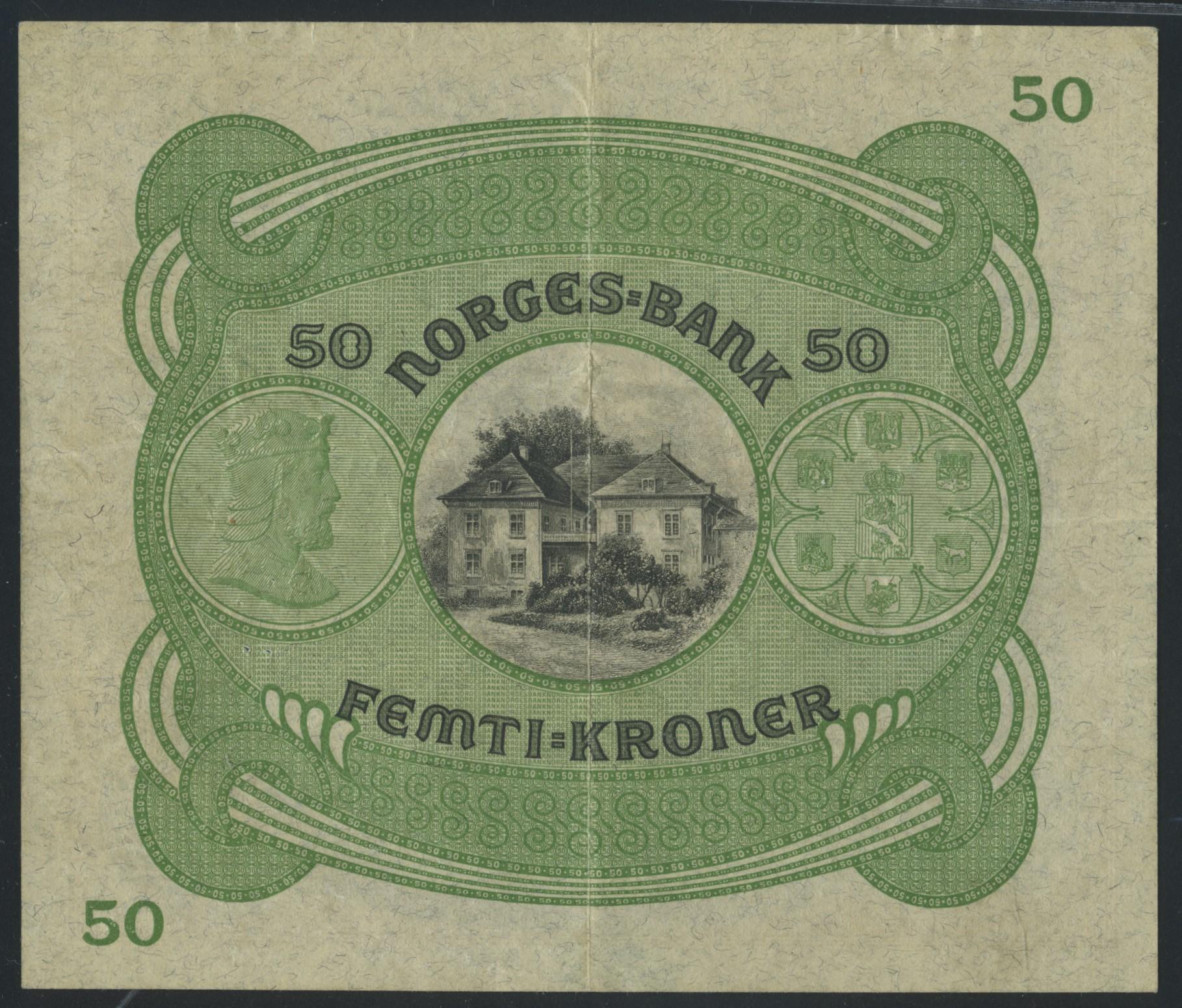 Lot 490 - 50-kr  -  Skanfil Auksjoner AS  Public auction 211