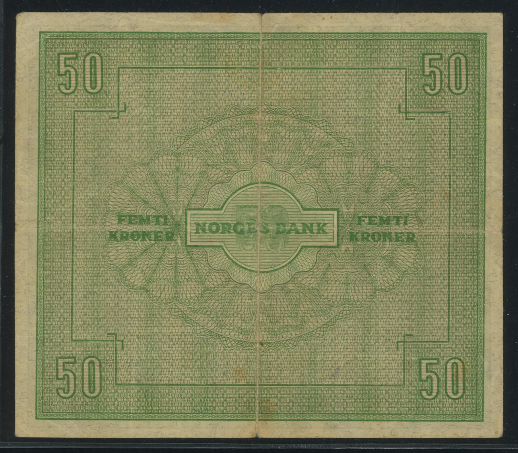 Lot 492 - 50-kr  -  Skanfil Auksjoner AS  Public auction 211