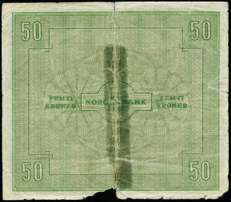 Lot 494 - 50-kr  -  Skanfil Auksjoner AS  Public auction 211