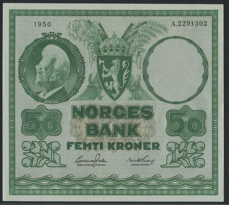 Lot 498 - 50-kr  -  Skanfil Auksjoner AS  Public auction 211