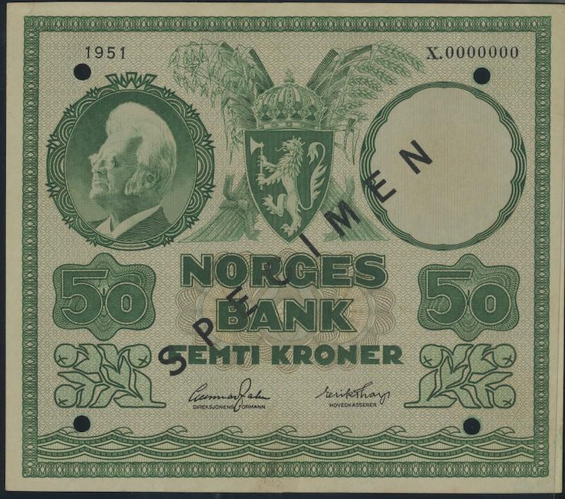 Lot 500 - 50-kr  -  Skanfil Auksjoner AS  Public auction 211