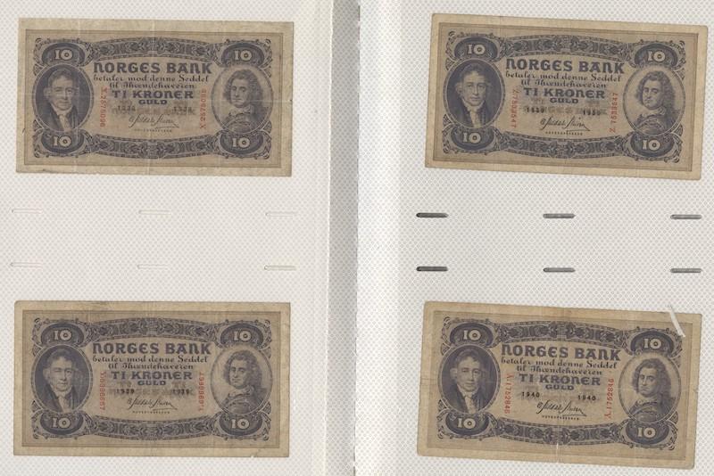 Lot 646 - Seddelsamlinger  -  Skanfil Auksjoner AS  Public auction 211