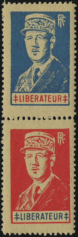 Lot 1401 - France timbres de liberation - cat. mayer -  Francois Feldman F.C.N.P François FELDMAN sale #124