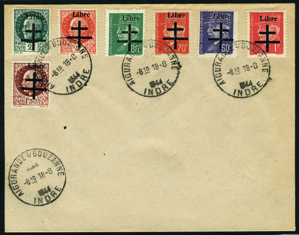 Lot 1410 - France timbres de liberation - cat. mayer -  Francois Feldman F.C.N.P François FELDMAN sale #124