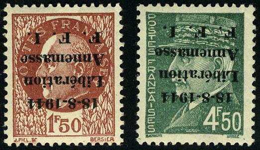 Lot 1416 - France timbres de liberation - cat. mayer -  Francois Feldman F.C.N.P François FELDMAN sale #124