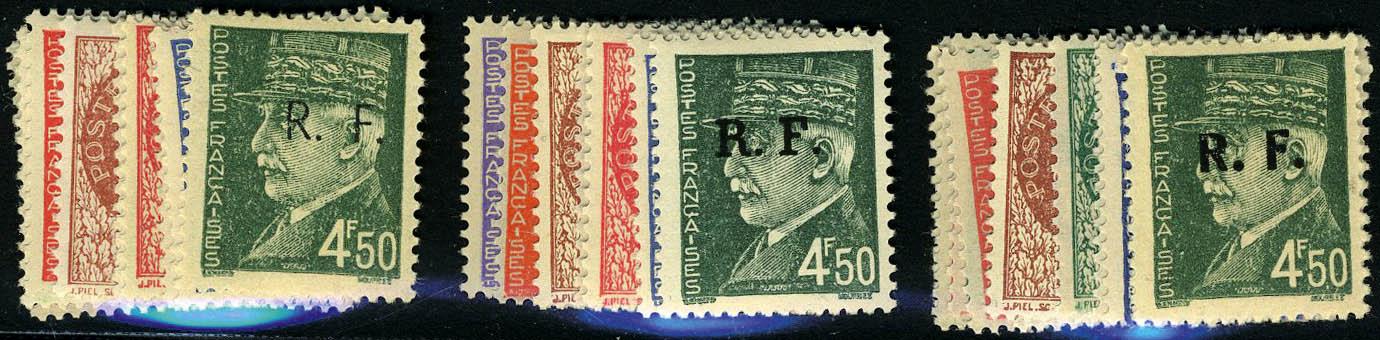 Lot 1423 - France timbres de liberation - cat. mayer -  Francois Feldman F.C.N.P François FELDMAN sale #124
