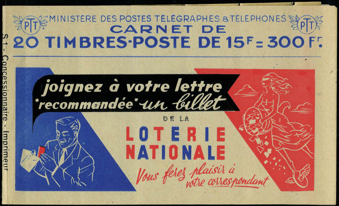 Lot 812 - France carnets -  Francois Feldman F.C.N.P François FELDMAN sale #127